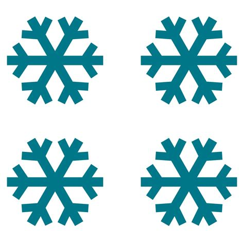 snowflake pattern clipart simple snowflakes clipart best