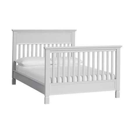 crib to full bed conversion kit larkin crib full bed conversion kit pottery barn kids