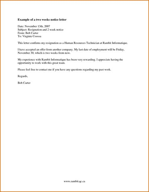 how make a two week notice weeks 09 write one resignation letter