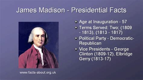Biography Facts About James Madison | president james madison biography youtube