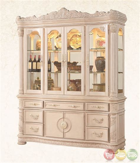 Dining Room Buffet And Hutch Set Blair Traditional Light Wood Formal Dining Set With Buffet