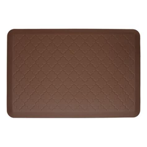 wellnessmats cushioned kitchen floor mat brown trellis    save