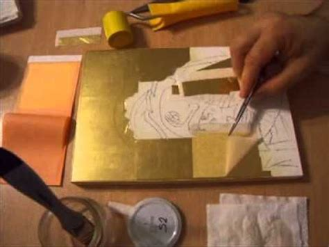 tutorial icone decoupage how to represent the halo in byzantine icons part 4 wmv