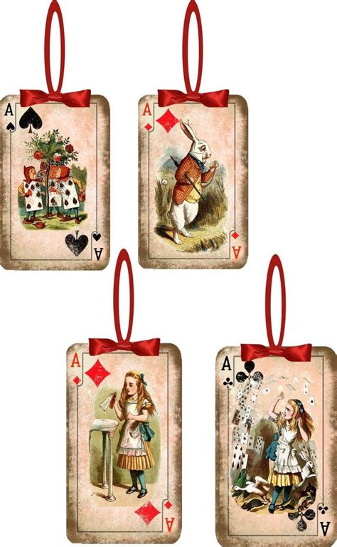 Card Player Gifts - christmas ornaments playing cards s unused kitten wearing red bow playing w ornament