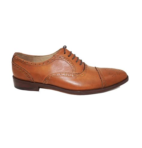 light brown oxford shoes light tan brown brogue cap toe oxford formal leather dress