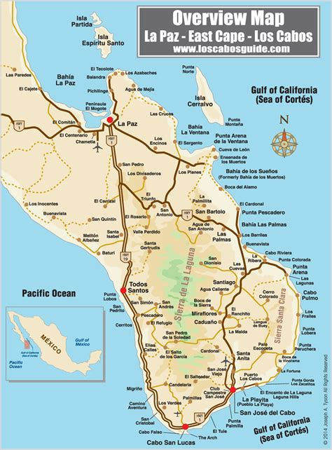 map of mexico cabo map los cabos mexico mexico map
