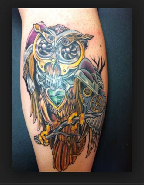 steunk owl by todd wilson at icon piercing