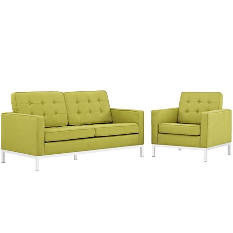 button tufted loveseat loft modern 2pc upholstered button tufted loveseat