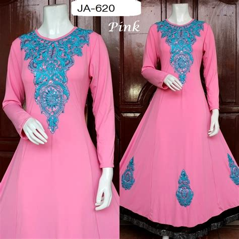 Baju Pesta Bordir Pesta Murah baju jodha jersey bordir pink ja 620 baju pesta busana