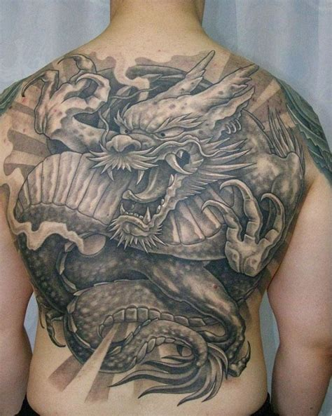 tattoo japanese dragon black great black gray japanese dragon tattoo on back