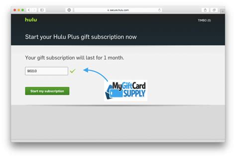 Hulu Gift Card - how to redeem your hulu plus gift card