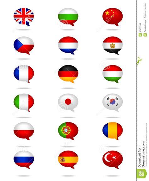 languages flag set stock images image 30457394