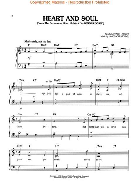 heart and soul sheet music heart and soul 1 piano 4 hands