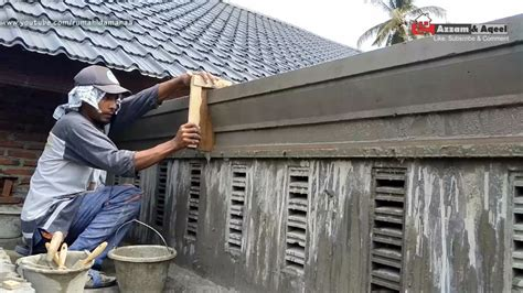 membuat profil beton carport rumah minimalis eps