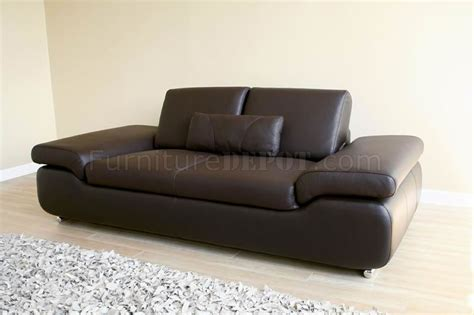 Ultra Modern Sofas Ultra Modern 2 Pc Sofa Loveseat Set In Brown Leather