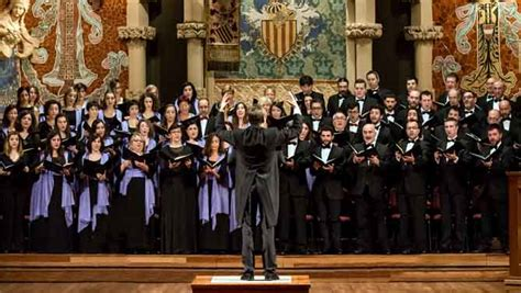 the chorus section in l orfeo by monteverdi l orfe 243 catal 224 i el cor de cambra del palau debuten al bbc