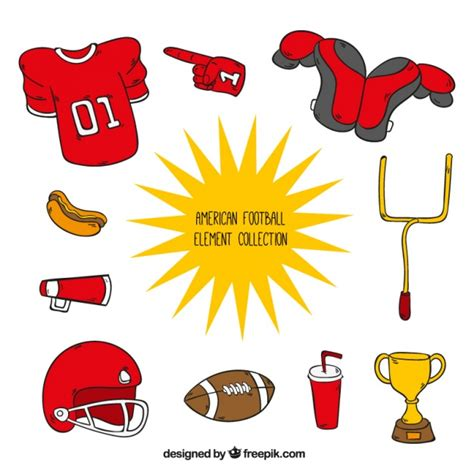 Accessories Football collection of american football accessories