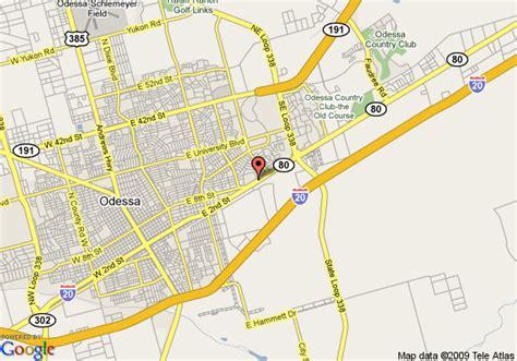 map of texas odessa map of odessa days inn odessa