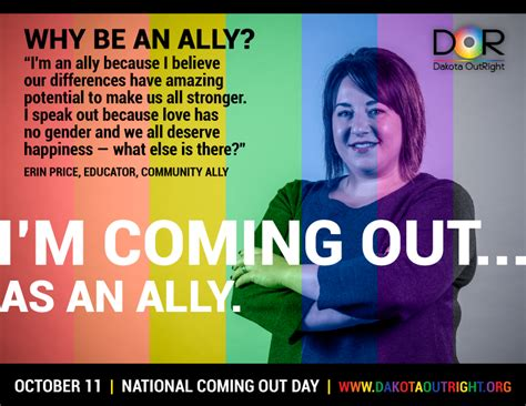 s day coming out coming out as allies caign comingoutnd dakota outright