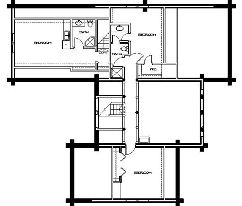 log home floor plans montana log homes floor plan 045
