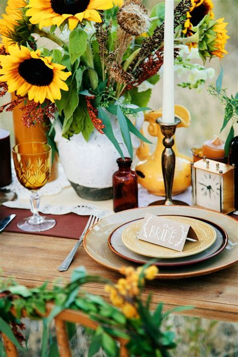 sunflower table settings festive table setting sunflowers time fancy