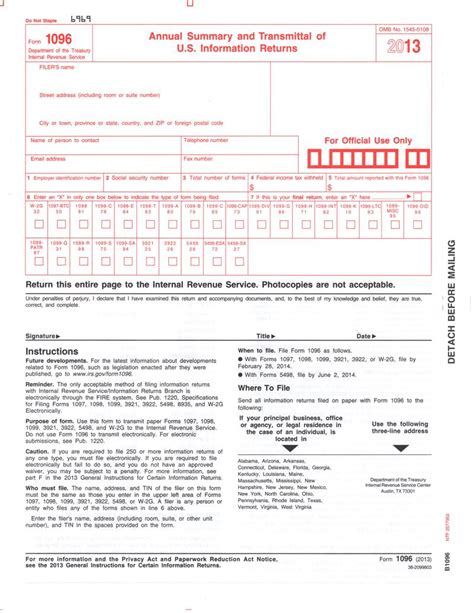 1096 transmittal form related keywords 1096 transmittal