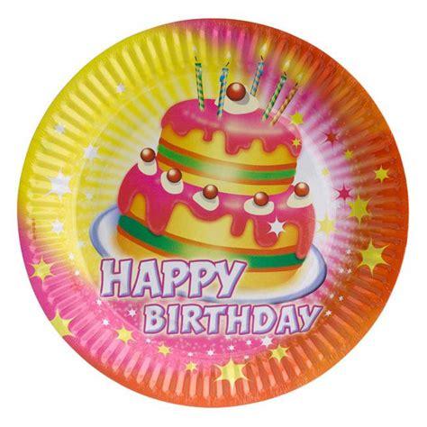 happy birthday kuchen pappteller quot happy birthday kuchen quot 8er pack g 252 nstig kaufen
