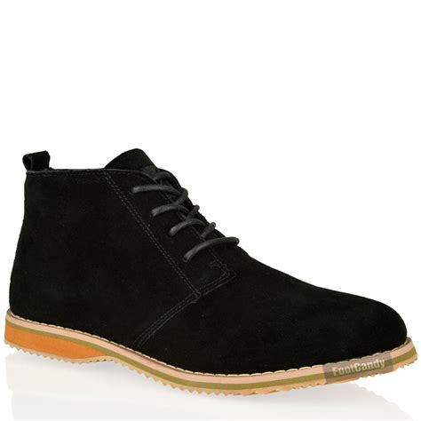 mens casual suede boots mens casual desert chukka mid lace up ankle flat leather