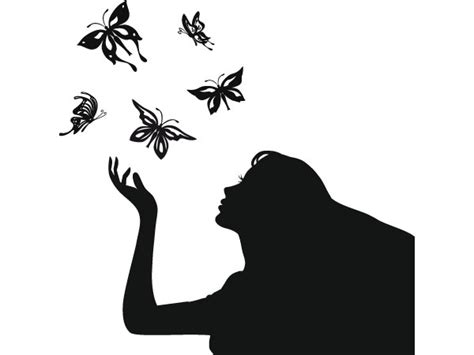 imagenes de mariposas siluetas vinilo decorativo silueta de una mujer con mariposas