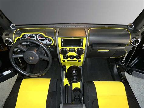 yellow jeep interior gallery exle dash trim kits floor protection and car