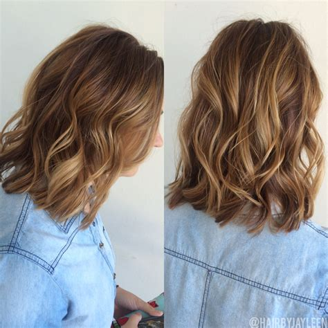 short hairstyles light brown with blond highlights balayage hair natural brown balayage short haircolor