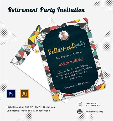 image for free printable retirement party invitations cards