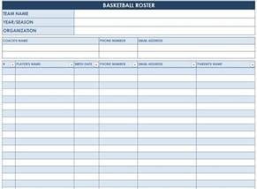 basketball roster template basketball roster template basketball roster sheet