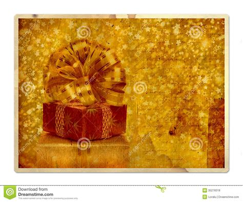 Greeting Card Gift Boxes - vintage greeting card with gift boxes royalty free stock