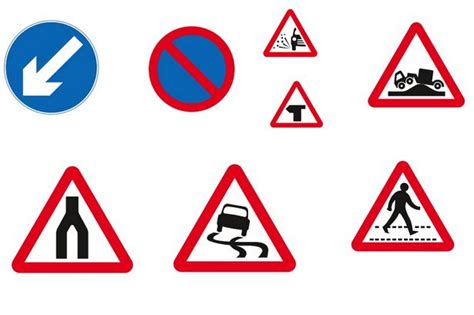 printable road code test quiz driving road signs do you know what each sign means