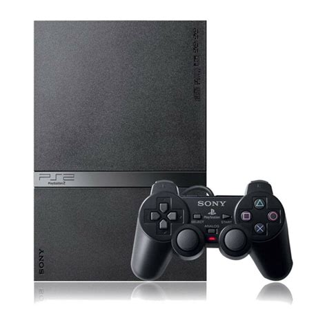 buy ps2 console sony playstation 2 slim charcoal black console complete