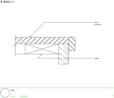 corian no drip edge no drip edge using 1 2 or 3 4 inch material aia cad