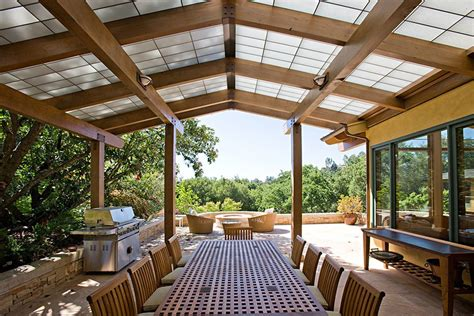 awesome patio roof designs with wood dining table chair