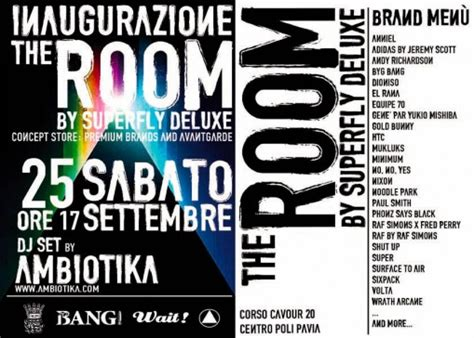 superfly pavia domani sabato inaugura the room by superfly deluxe a