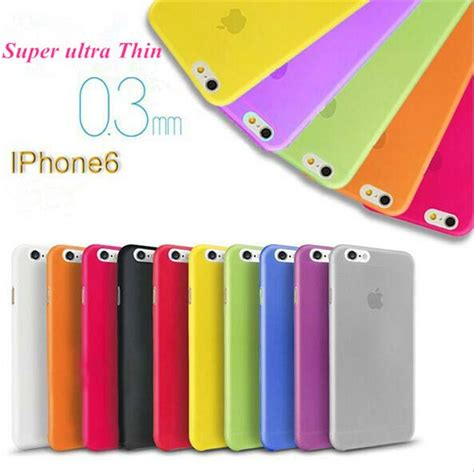 Iphone 6 Plus Softcase Ultra Thin Clear Orange 676f4n 0 3mm ultra thin slim matte frosted clear soft pp cover skin for iphone 6 6s plus 4 7 5 5 5