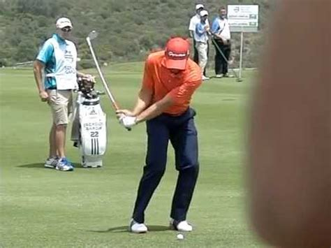 sergio garcia swing slow motion sergio garcia golf swing iron slow motion volvo world