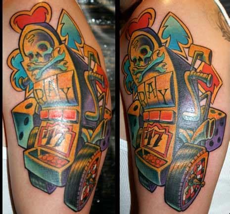 slot machine tattoo pictures and ideas slot machine