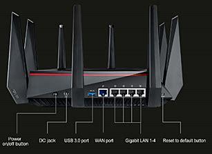 Asus Rt Ac5300 Wireless Ac 5300 Mbps Tri Band Gigabit Router asus rt ac5300 wireless ac5300 tri band gigabit router