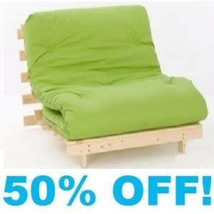 lime green futon single 3ft wood base futon mattress lime