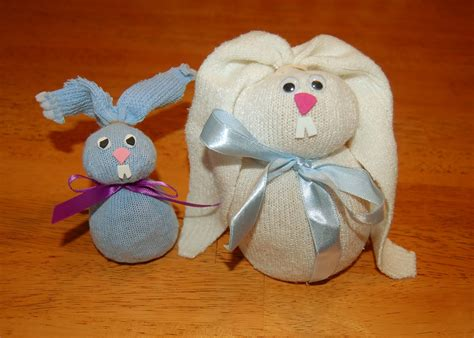 columbus sock bunny easter craft