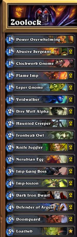 zoolock deck 3 competitive hearthstone decks that won t the bank