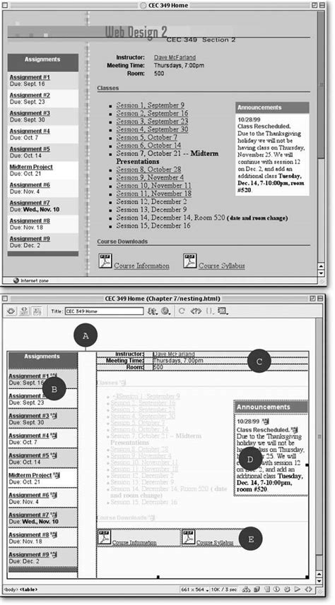 Dreamweaver 8 The Missing Manual section 7 12 tabular data dreamweaver 8 c the missing