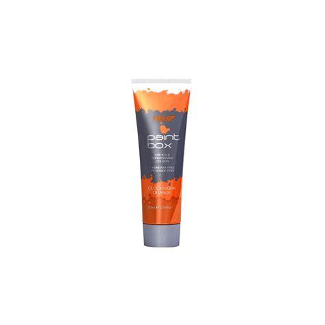 semi permanent hair color ginger orange fudge paintbox semi permanent hair dye clockwork orange