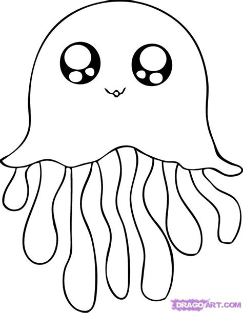 Cute Jellyfish Coloring Pages Jelly Fish Coloring Pages