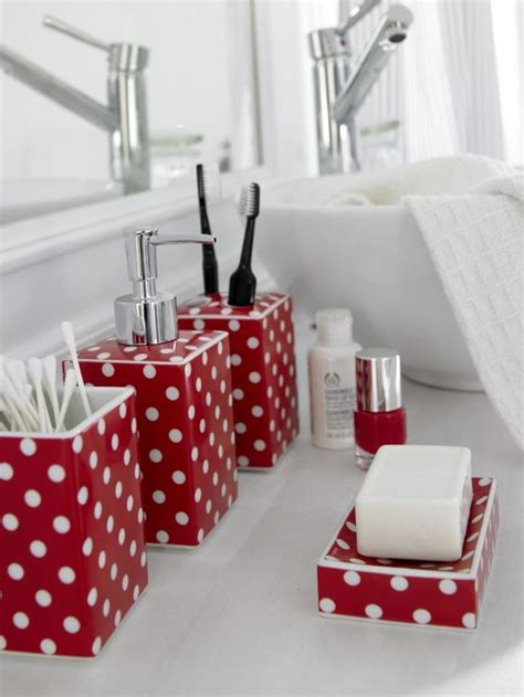 Polka Dot Bathroom Accessories How To With Polka Dot Decor Homesthetics Inspiring Ideas For Your Home